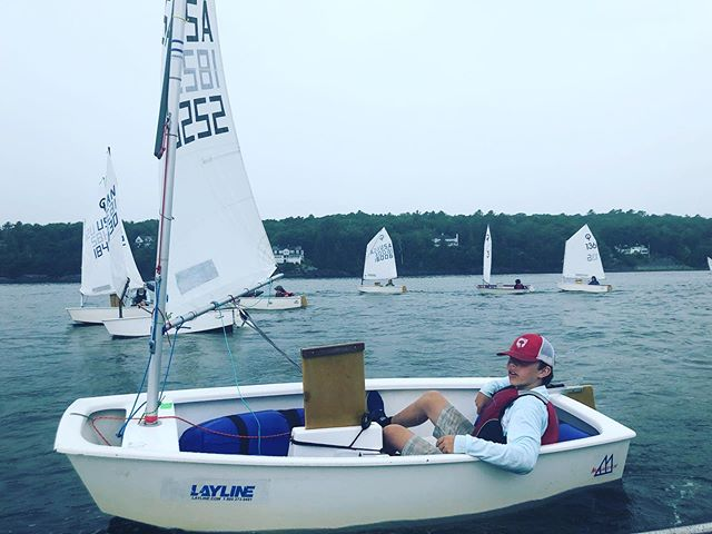Yesterday was Day 1 of the Regional Junior Olympics held at the Camden Yacht Club. Proud of these kids with a few top 5 finishes in a handful of the races. Let's go Day 2!!! #castine #maine #sailfast #castineyachtclub #opti #youthsailing