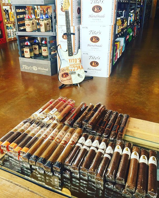 Don't forget, we also have cigars! - - - - #cigar #cigarlover #bourbon #whiskey #titos #vodka #scotch #smoke #austin #texas #atx #liquor #wine #beer #craftbeer #finecigars #smoking #cocktails #football #golf