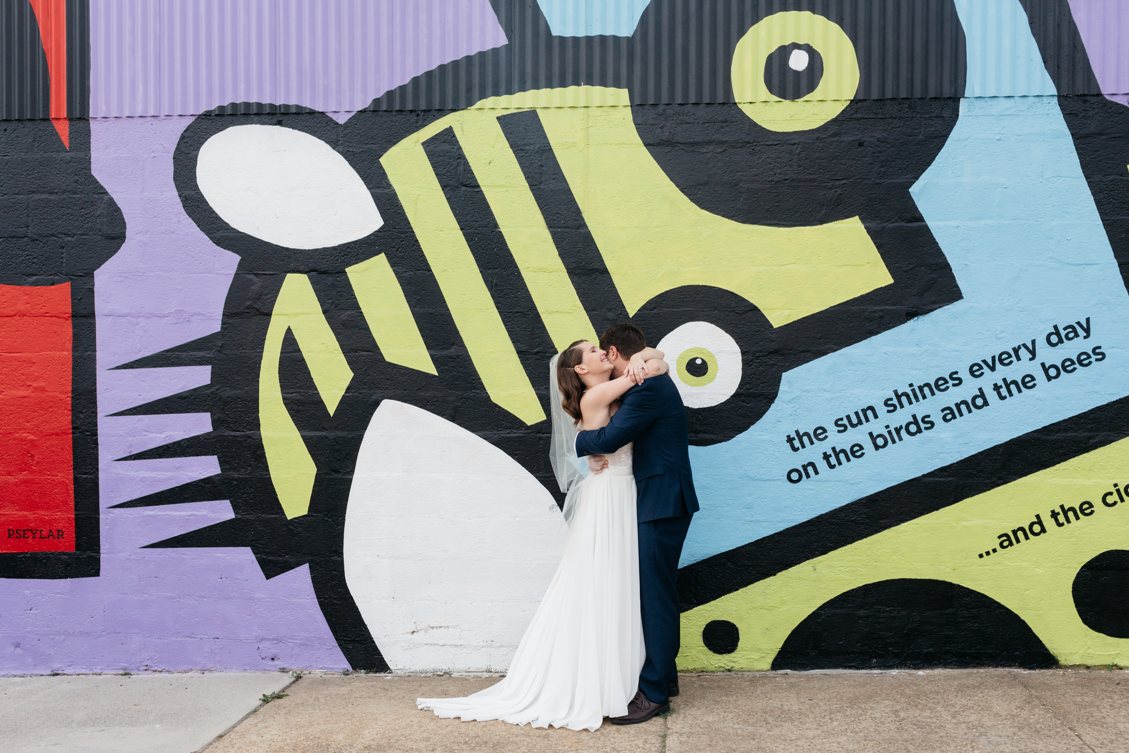 Standard Downtown Knoxville Wedding Venue Central Avenue Happy Holler Mural First Look