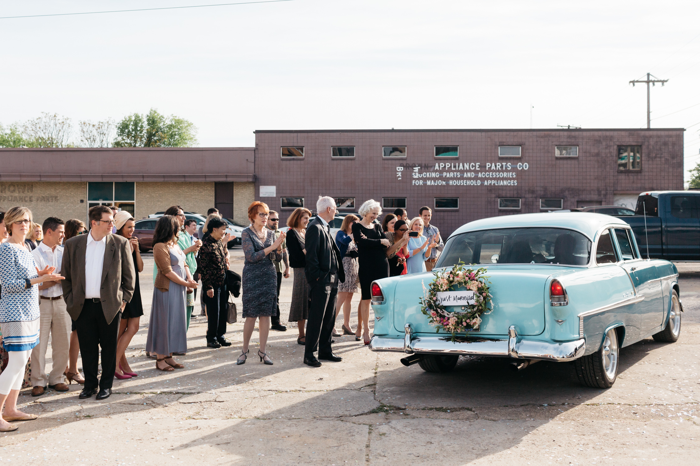 Standard Downtown Knoxville Wedding Venue Central Avenue Happy Holler Blue Car