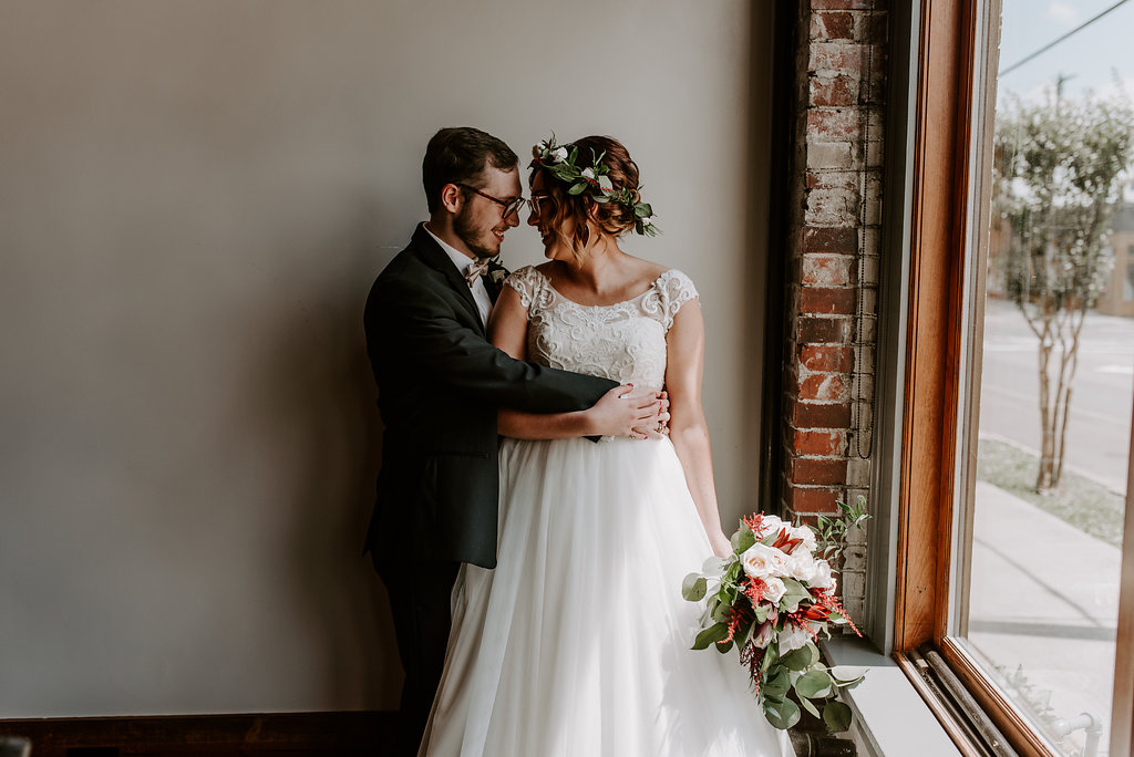 Standard Downtown Knoxville Wedding Venue Window Light