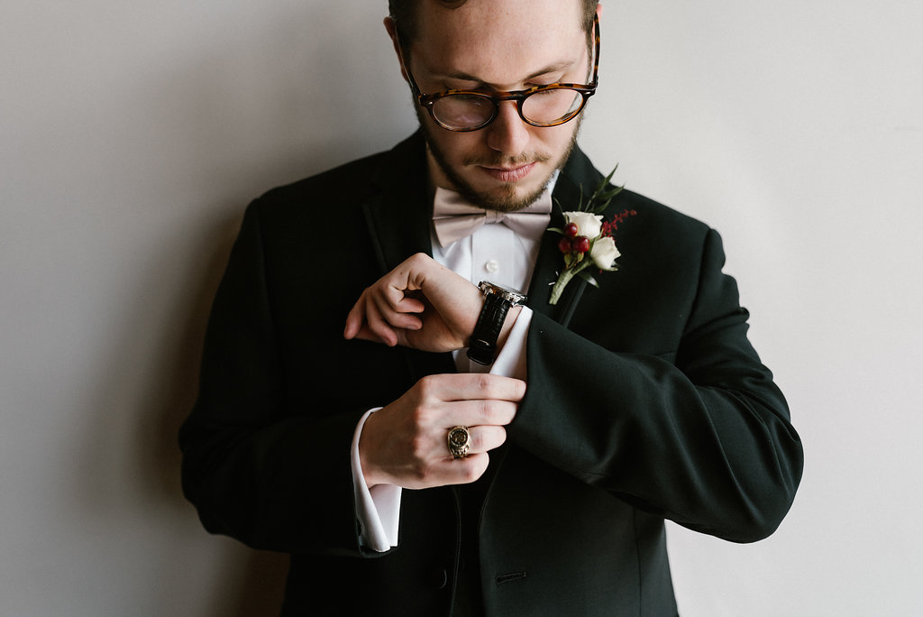 Standard Downtown Knoxville Wedding Venue Groom Portrait