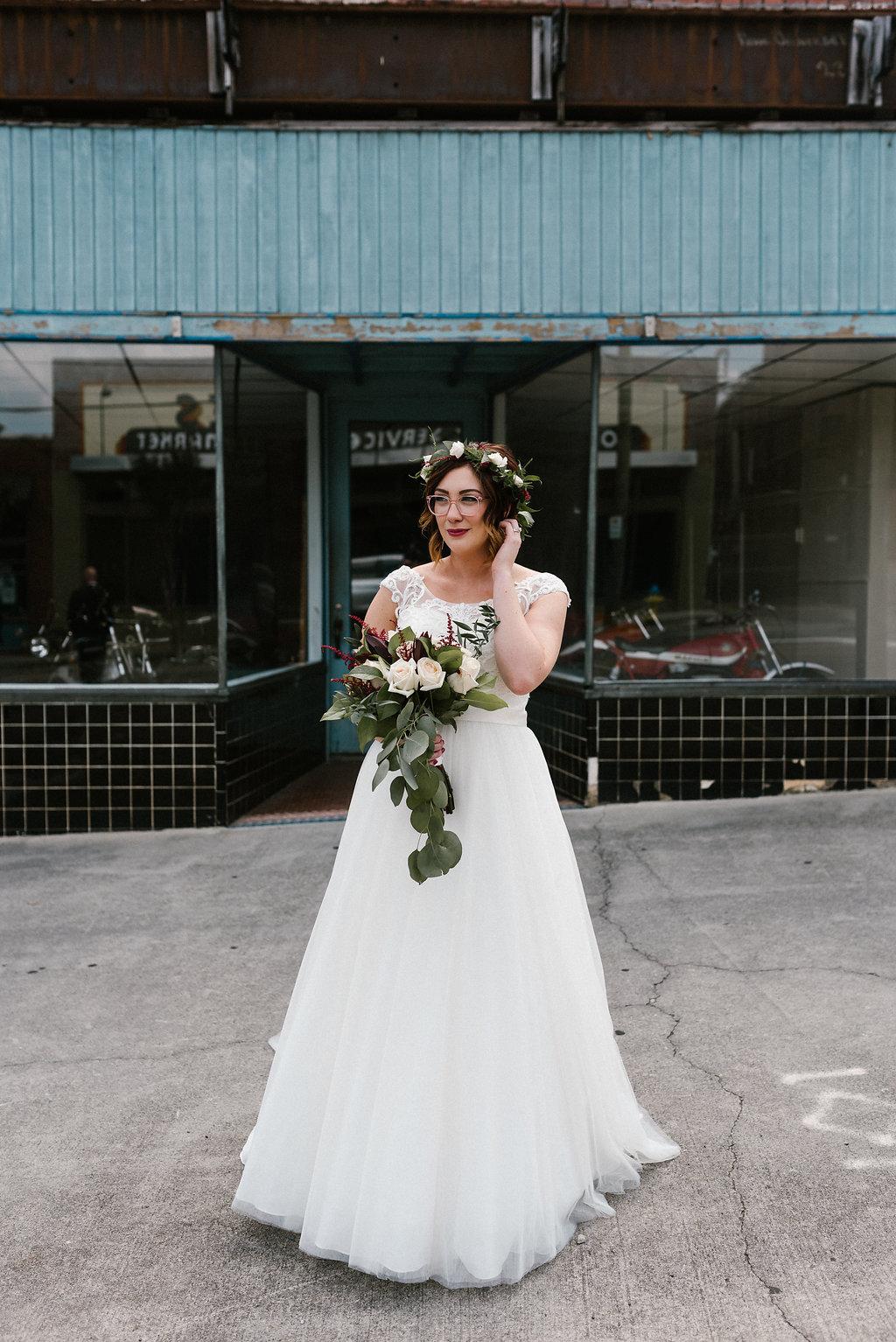 Standard Downtown Knoxville Wedding Venue Bridal Portrait Urban Central Avenue