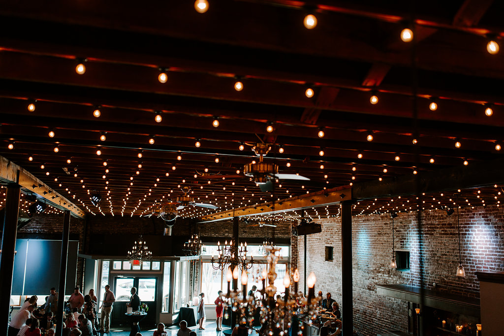 Standard Downtown Knoxville Wedding Venue Central Avenue Happy Holler Bistro Lights