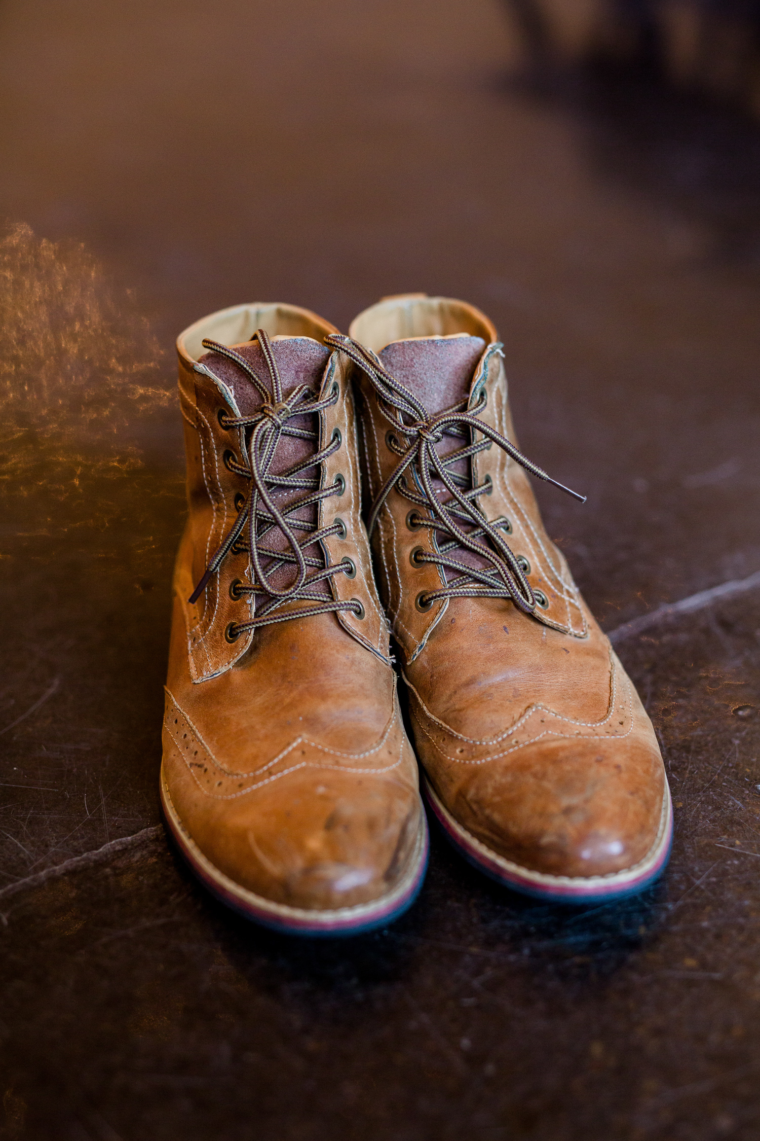 Downtown Knoxville Wedding Venue // Central Avenue Reception // Groom's Leather Boots