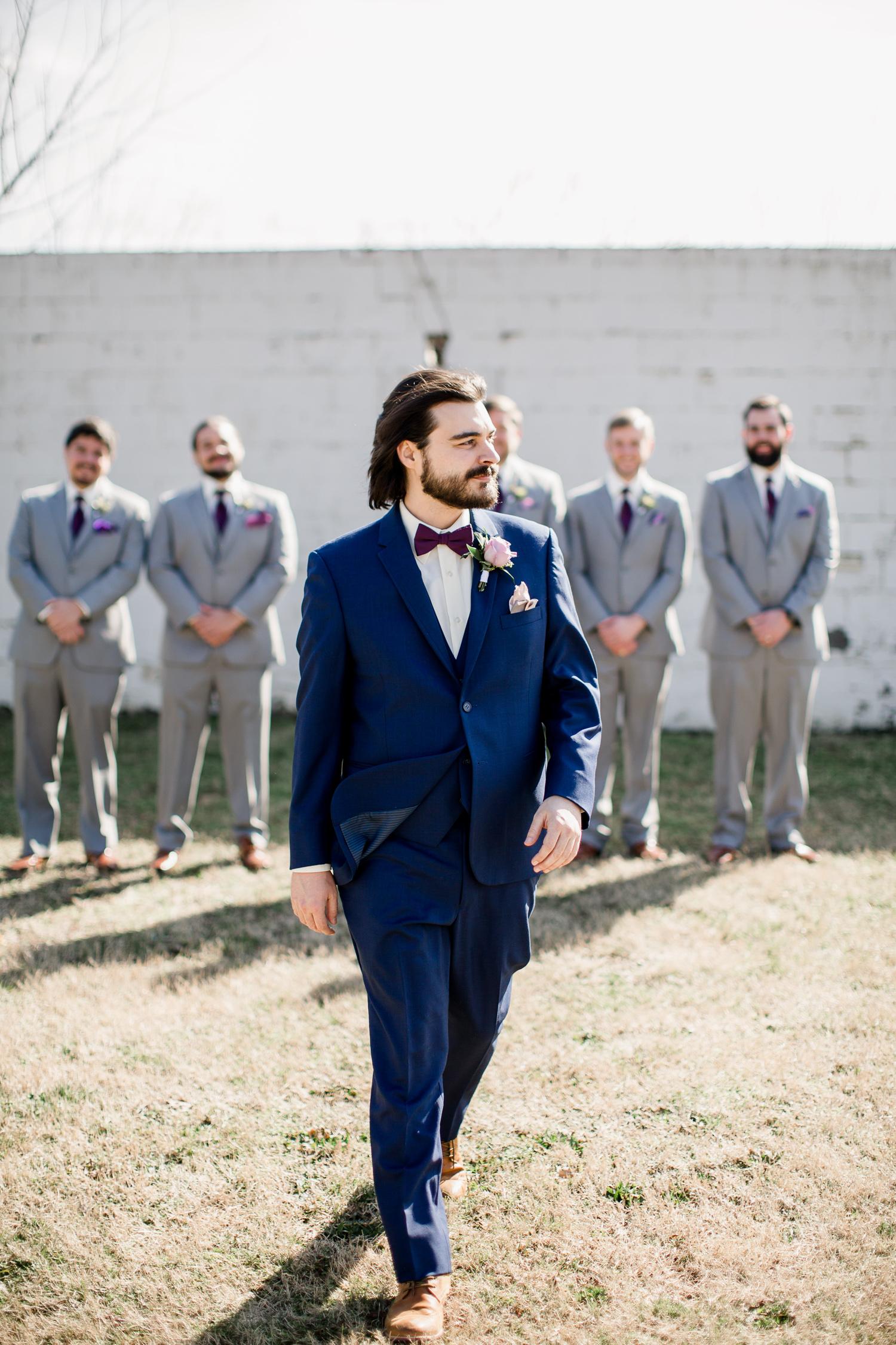 Downtown Knoxville Wedding Venue // Central Avenue Reception // Groom Portrait Outdoors