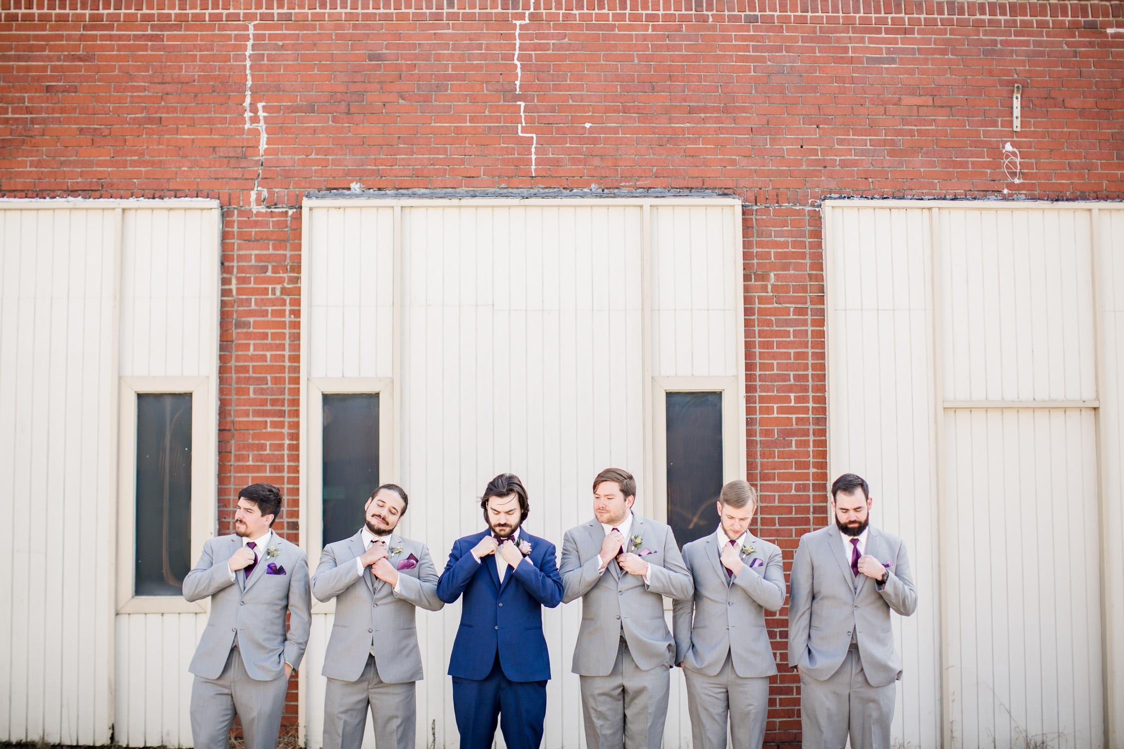 Downtown Knoxville Wedding Venue // Central Avenue Reception // Groomsmen Portraits