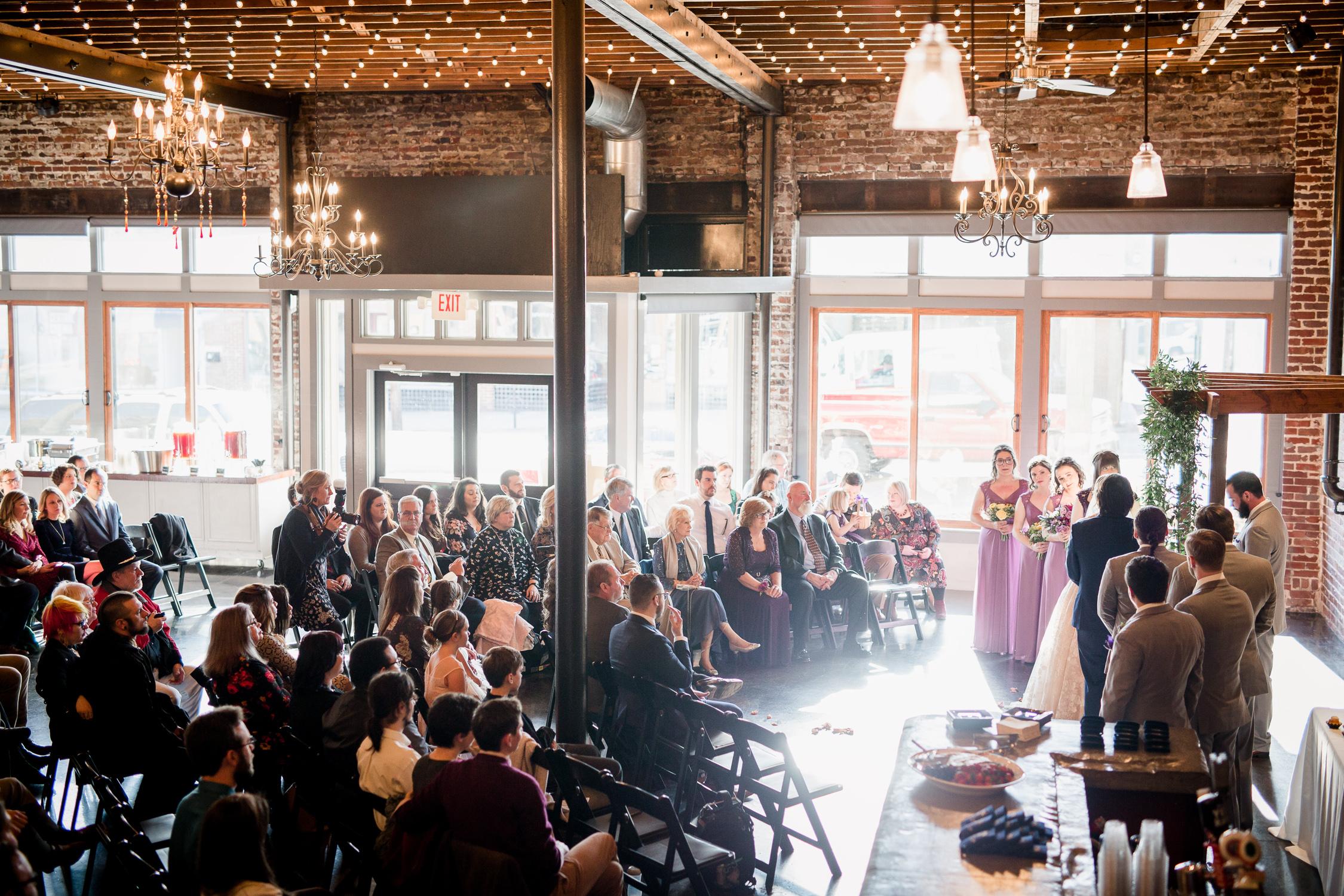 Downtown Knoxville Wedding Venue // Central Avenue Reception // Bridesmaids // Indoor Ceremony