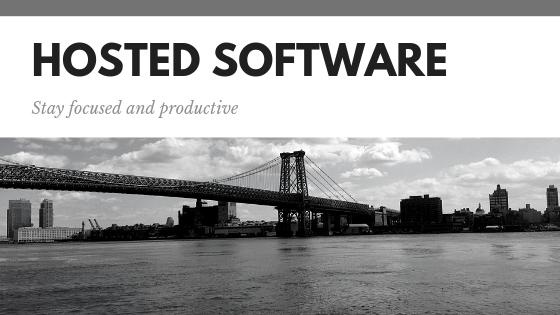 Hosted software model