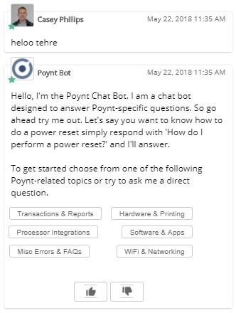 Exemple de l'un des chatbots de Relay utilisant le Natural Language Processing (NLP) pour surmonter les erreurs grammaticales d'un usager.