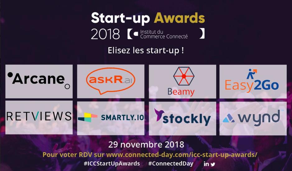 ICC Start Up Awards 2018 start up nominées