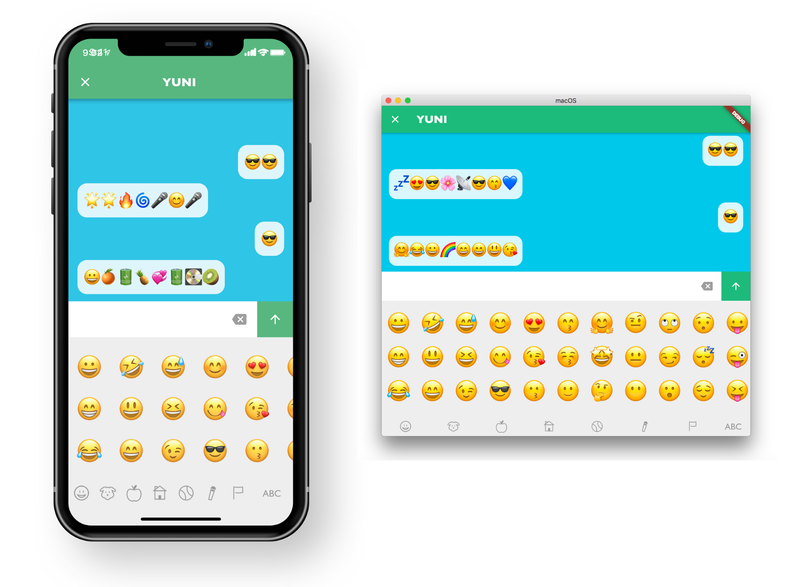 Our emoji app for kids, BetaBubs Play Emojis, worked on macOS with virtually no code changes!