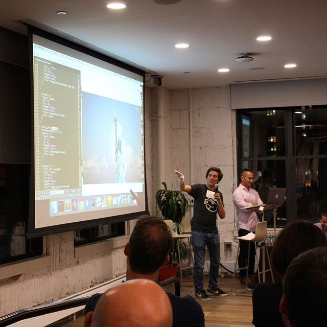 Kevin and Al showing #flutterNYC the magic last night! #flutter
