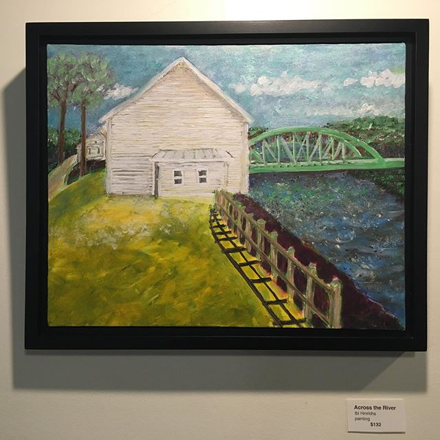 GREEN BRIDGE art exhibit at @theriverhousewv this month! . Don't miss the opportunity to see a wide variety of green bridge artwork, now on display & for sale. Paintings, photographs, fiberworks and more! . #visitcaponbridge #westvirginia #greenbridge #art