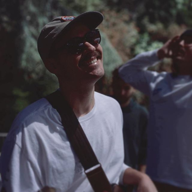 Come get happy like @mat_matix_ . We're playing on the west side June 13th at @townhousevenice on a fun night put on by @hobocamper . Then playing at an event for @drinkslowandlow organized by @gothictropic on June 17th at @golddiggersla . . . . @jacobmoss captured this moment playing at @jazzreggaefest