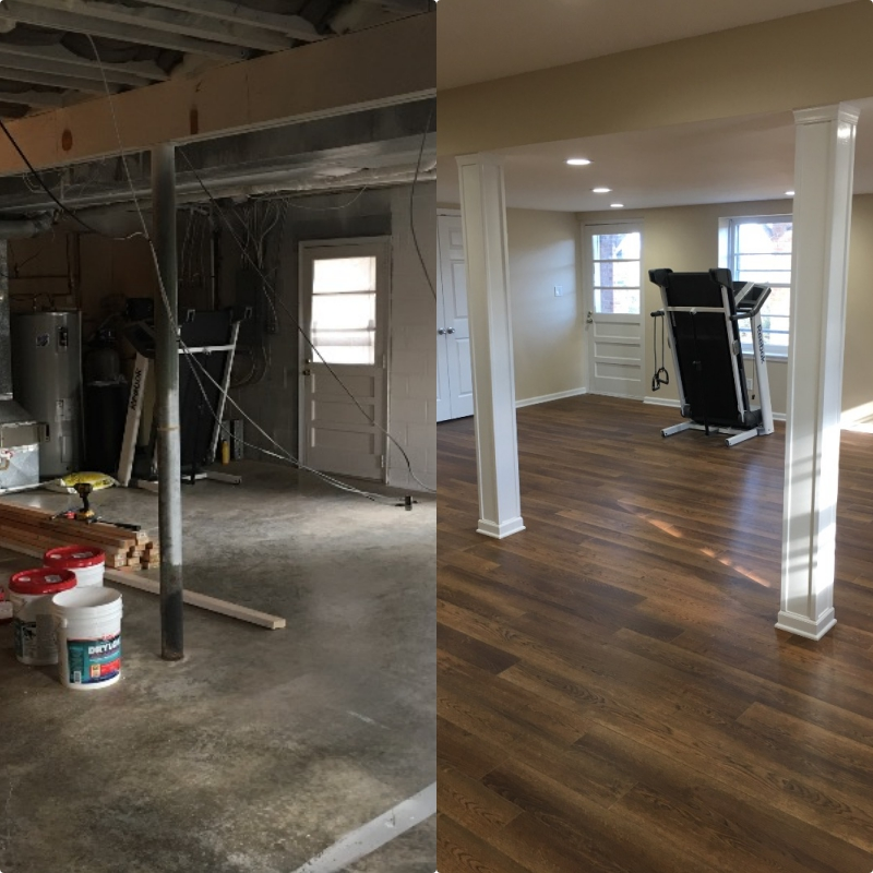 Basement Before & After