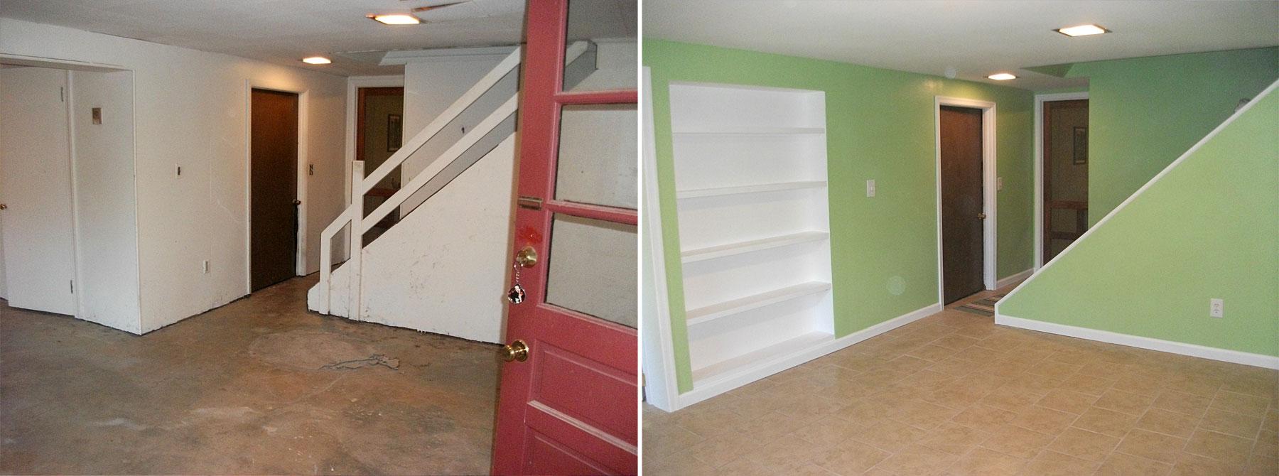 Basement Remodel Before & After