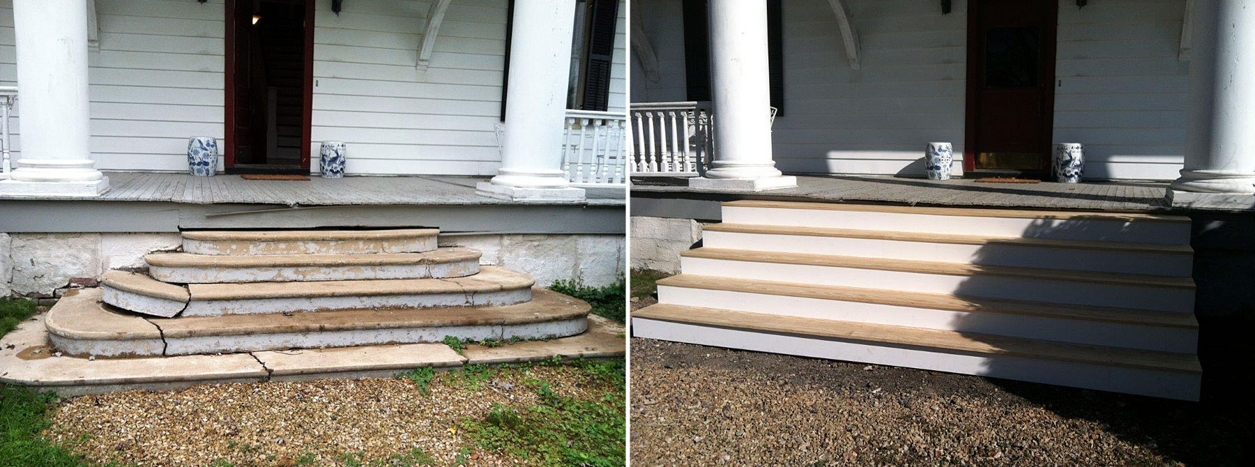 Front Steps Before & After