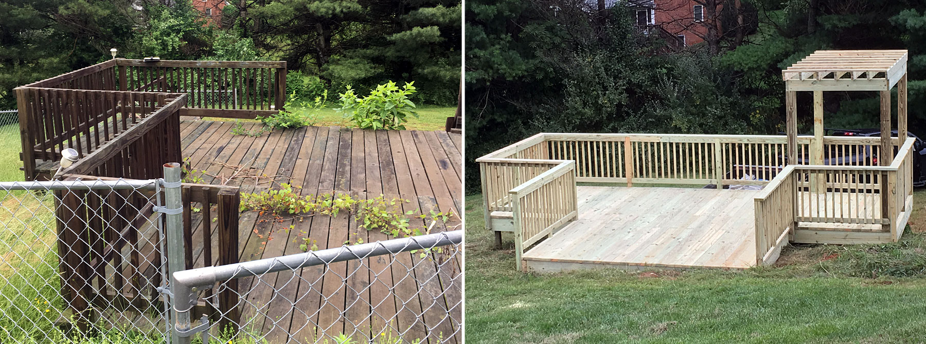 Deck Remodel Before & After