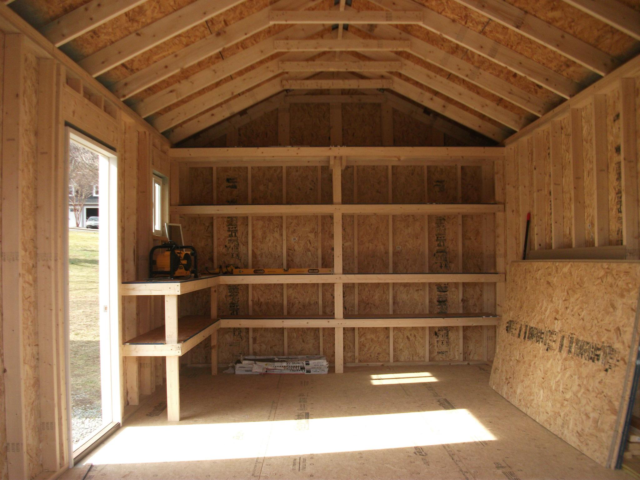 Custom Shed Interior