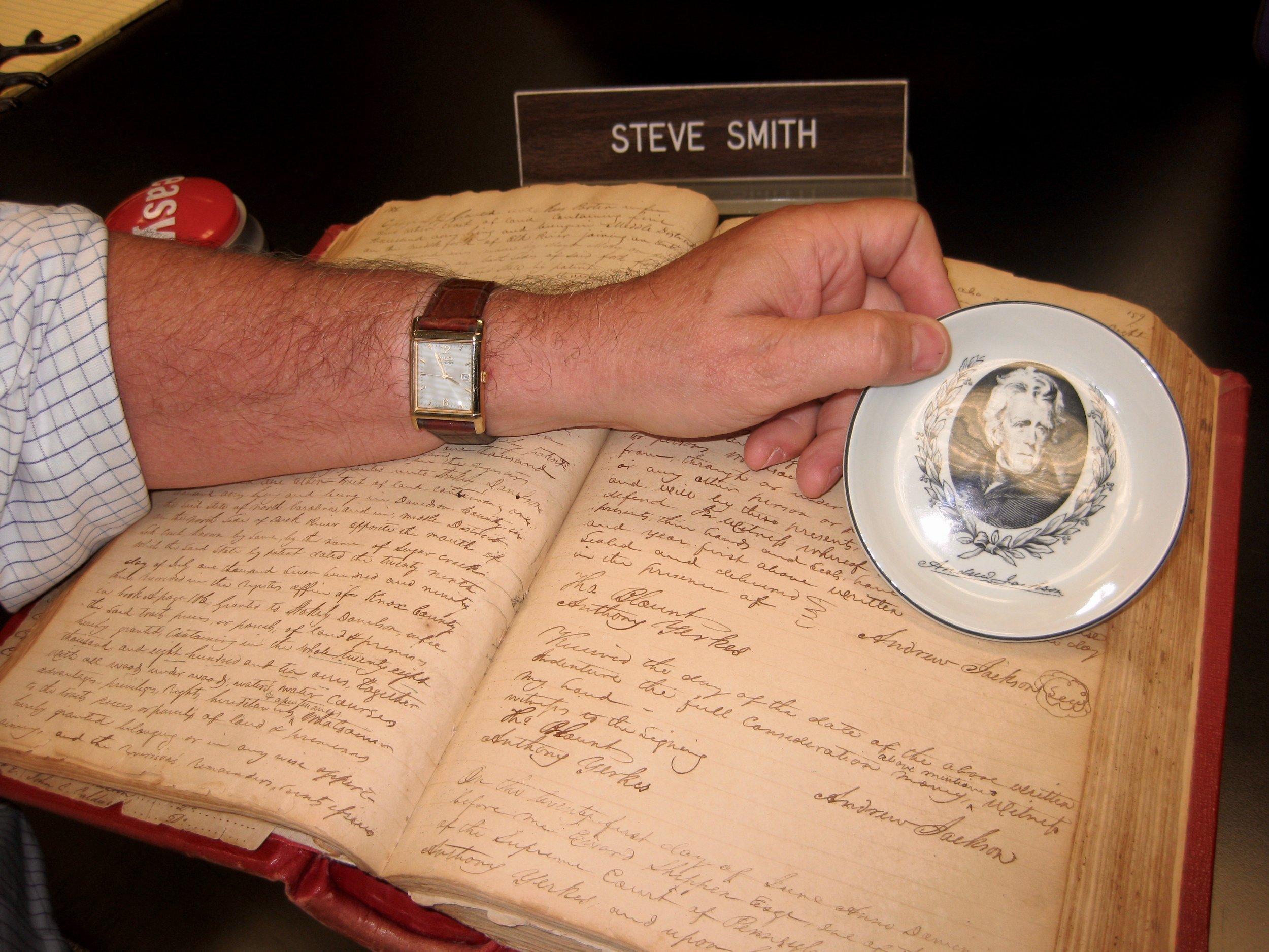 Haywood County Book Bearing Andrew Jackson's Signature 2014 Hayes