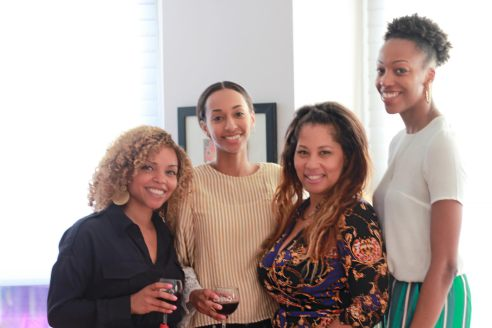 (left to right) Belissa Savery, Enterprise Local Client Partner @ Yelp, Menen M, Client Engagement Associate @ Dataminr, Rahdiah Barnes, Account Manager @ Spectrum,  & Alicia Lee, Sales Cordinator @ Outfront Media