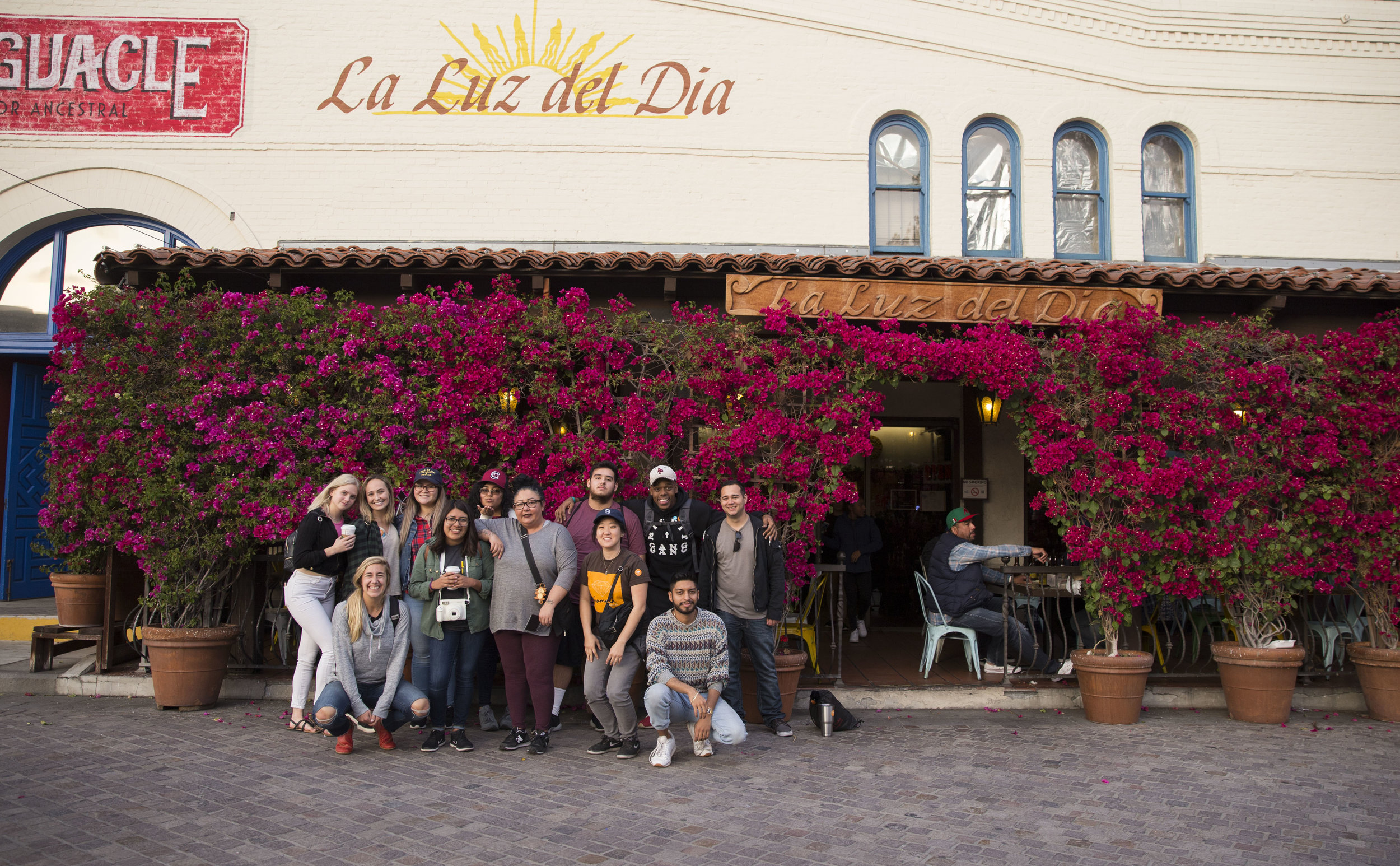 Group picture at lunch stop at Olvera Street.