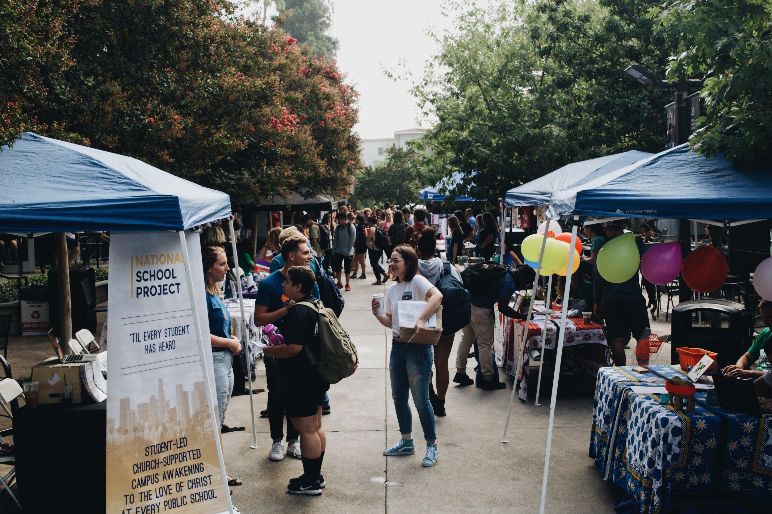Service Fair on Cougar Walk