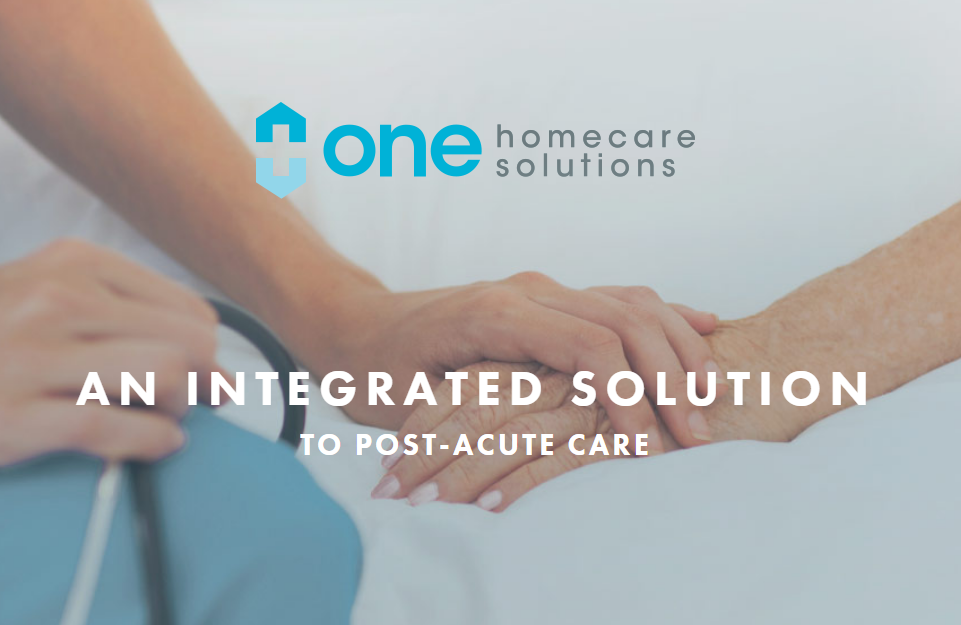 One Homecare SolutionsHealthcare ServicesActive Investment - One Homecare Solutions is an integrated post-acute care provider focused on meeting the needs of health plans by serving their members through a single source solution. One manages patients' complex and chronic needs from infusion care to nursing and durable medical equipment services at the home, promoting quality of life, improving health for patients, and reducing costs for health plan.www.onehomecaresolutions.net