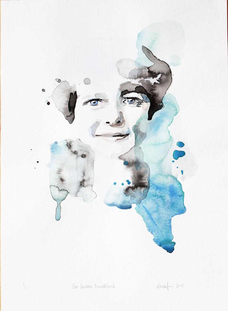 """Gro Harlem Brundtland"" 1000 NOK / €100"