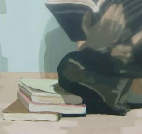 One of my many old #wip to finish . . #workinprogress #acrylicpainting #acryliccanvas #portraiture #portraitpaintings #retrato #portrettmaleri #portrett #stereotypes #womanroles #educateyourself #readingtime #floorcleaning #vaskegulv #lesehest #kvinneroller #stereotyper #turkis #beige #greens #bigformat