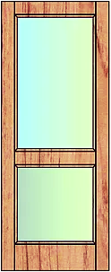 Two pane glass. Suitable for external use