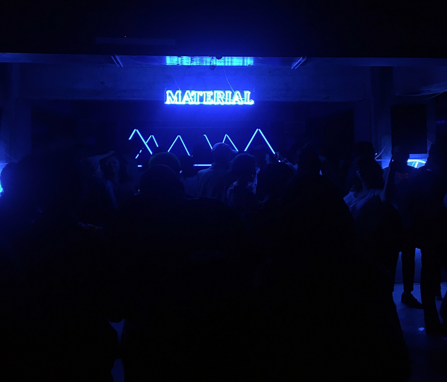 Material held a dance party at an underground (literally) concert hall called Foro Normandie.