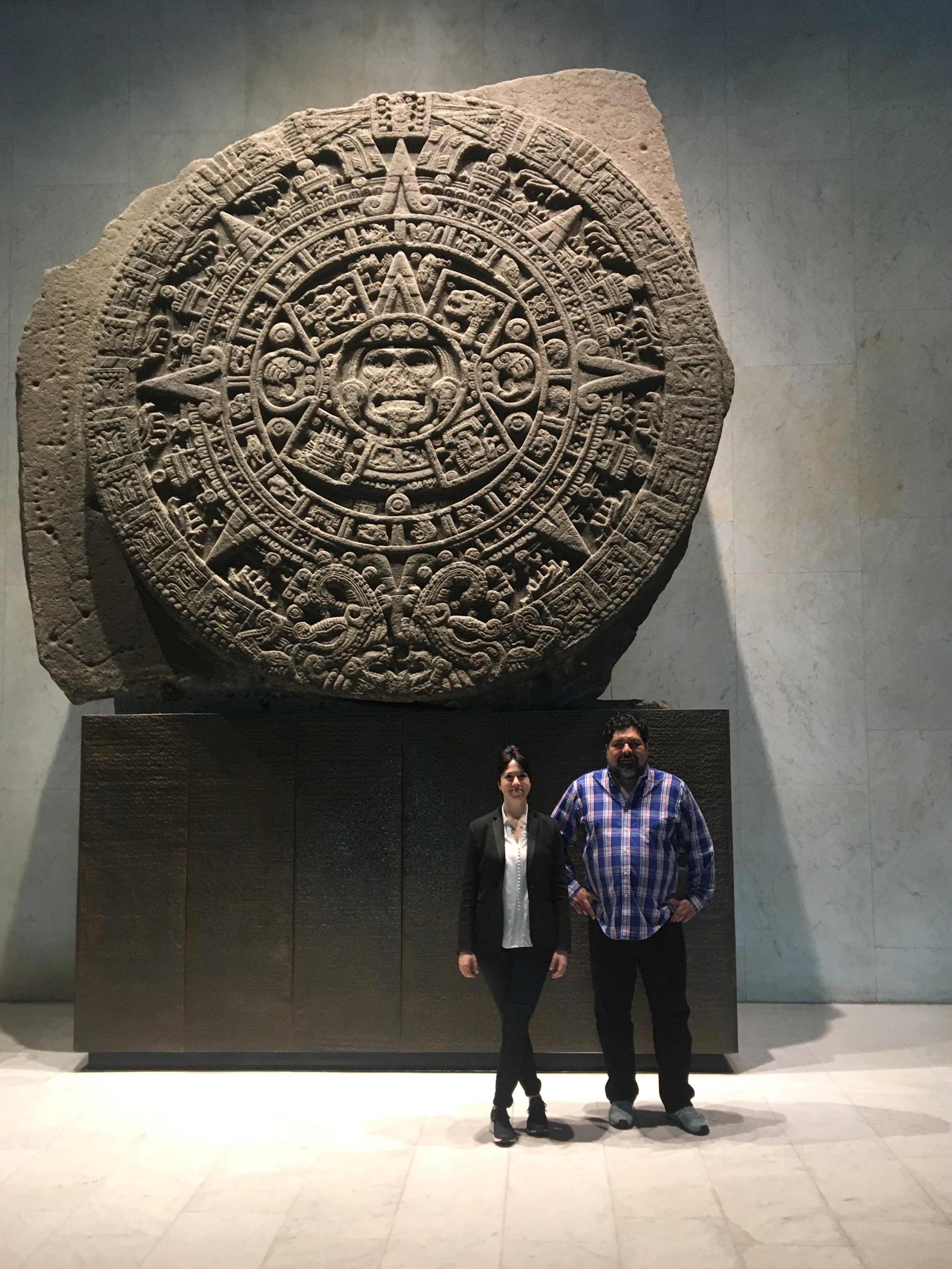 Hilary and Arturo at the National Museum of Anthropology.