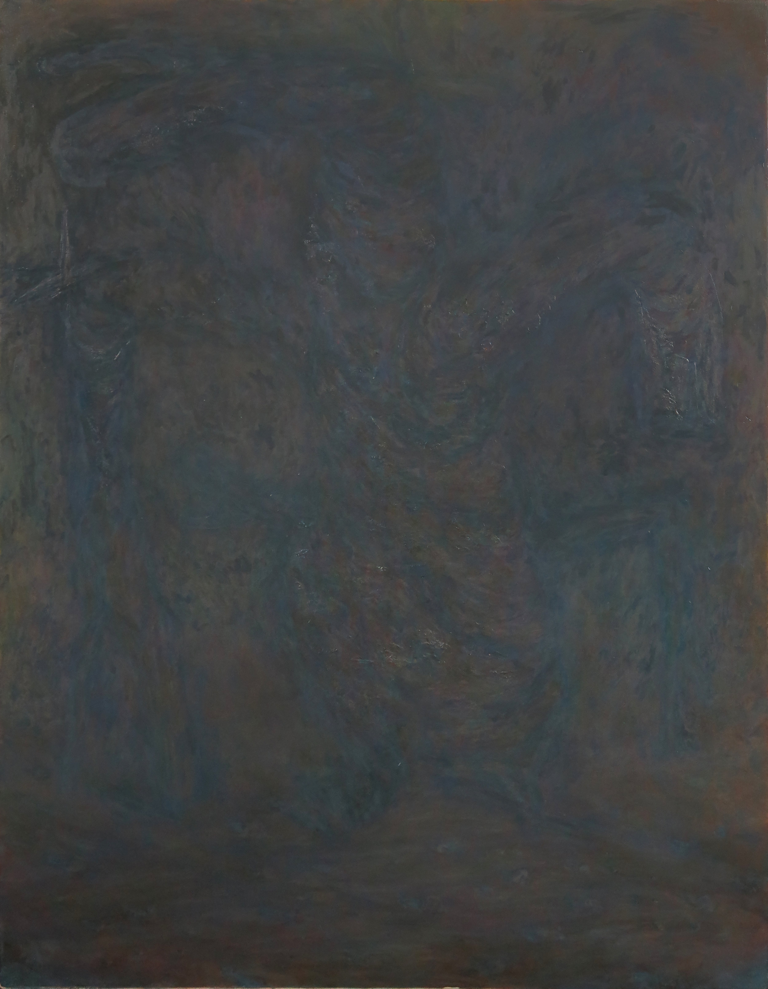 """Seth Alverson .  How to Make a Gray Painting 3 , 2018. Oil on canvas. 52"""" x 40""""."""