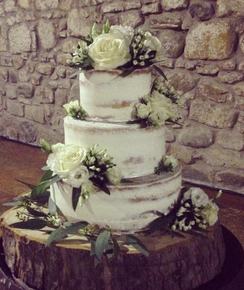 green and white wedding cake. Loren Brand Cakes