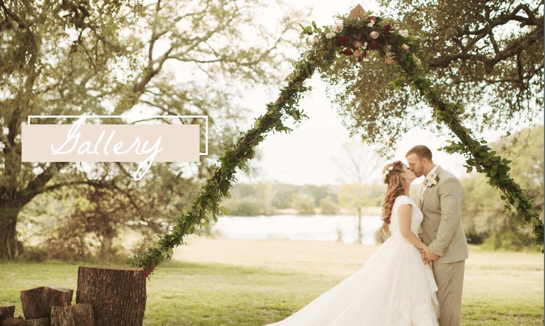 texas outdoor wedding ceremony ranch