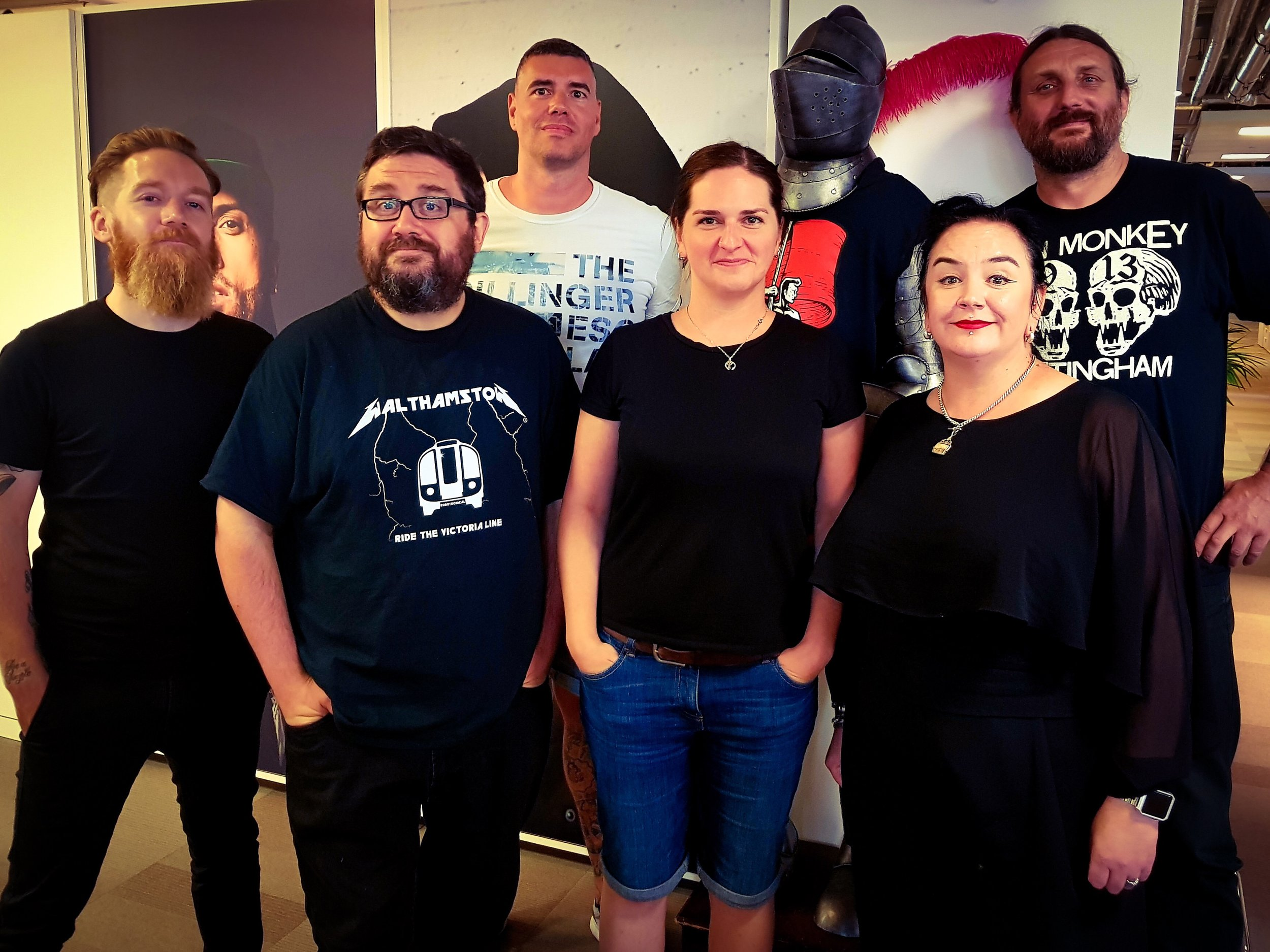Left to Right: Merlin Sutter (AISA U.K.), Joel De`ath (Music For Nations/Sony), Simon Füllemann (CEO AISAmusic), Kate Piatkowska (AISA U.K.), Julie Weir (Music For Nations/Sony), Ben Ward (United Talent Agency)