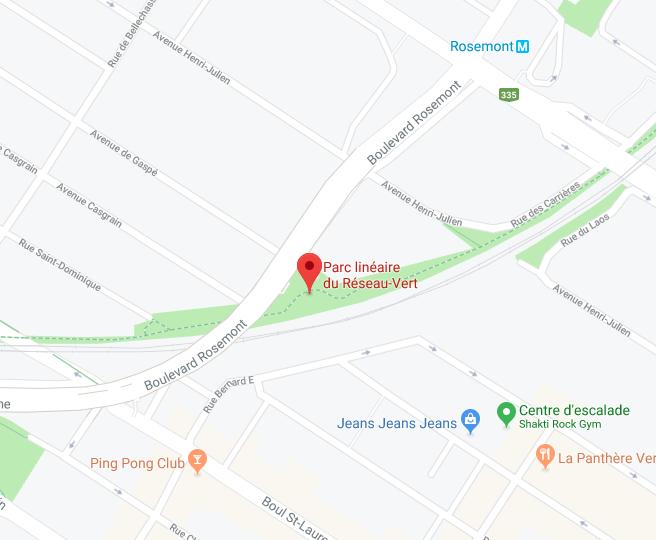 Parc linéaire du Réseau-Vert, à deux pas du métro Rosemont -