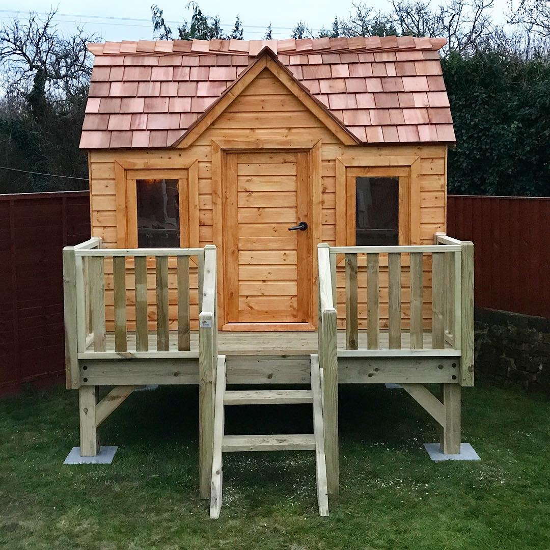 """Snowdrop Cottage - """"Rich is the most friendly, professional, genuine guy and his work reflects just that. From the bespoke design to the installation, I couldn't have asked for any more. The treehouse is PERFECT and my children will cherish it and love it for years to come! Thank you so so much R Design Treehouses! Recommend ++++++""""Mrs Sharpe - Longney"""