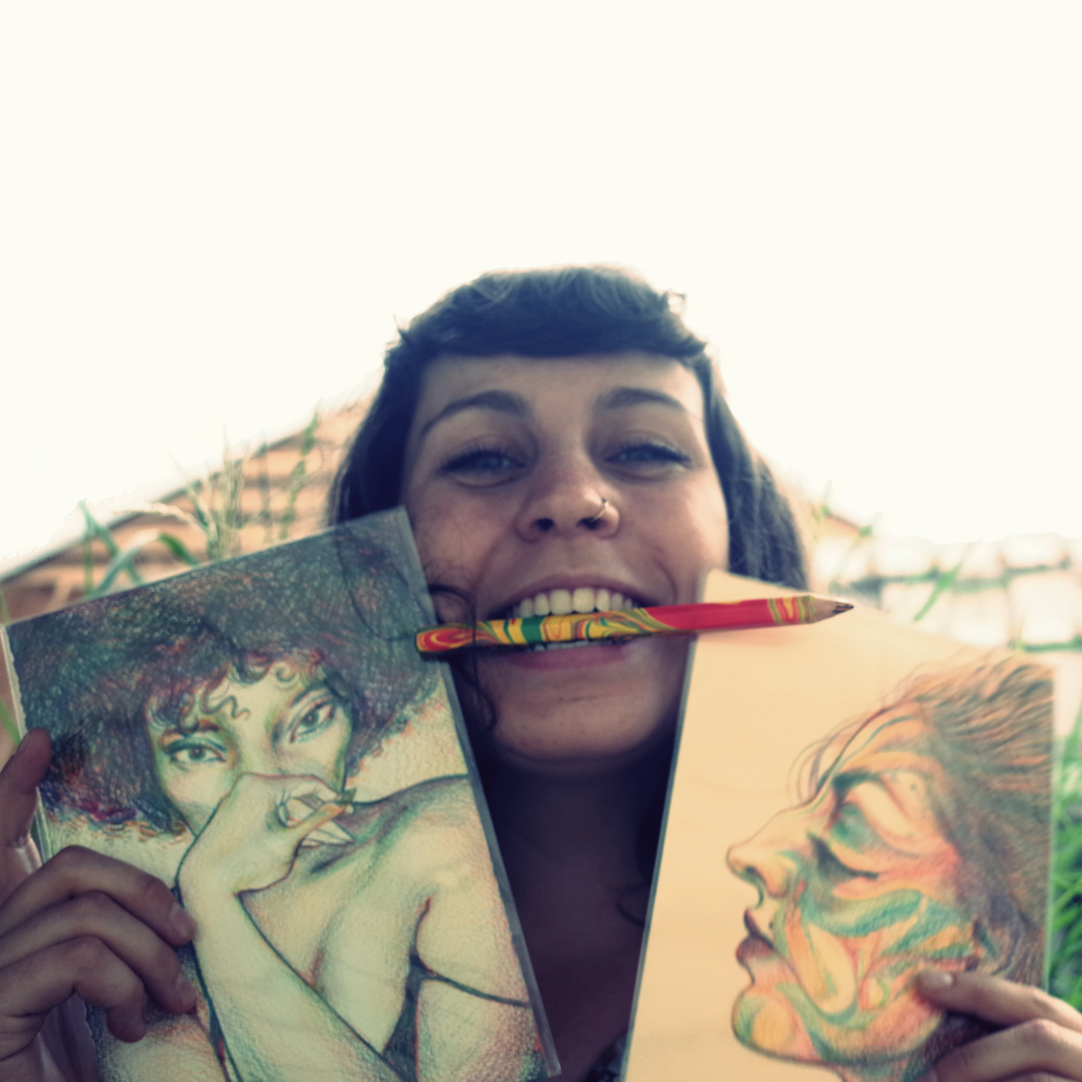 More drawing leads to more smiling (Pictured:  Sophie McPike )