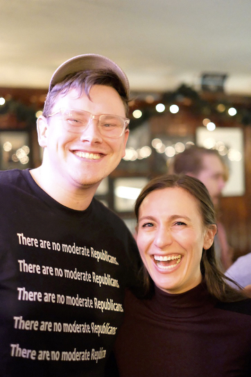 Sean McElwee and Alessandra Biaggi. Alessandra is running to unseat NY Senator Jeff Klein, the leader of the rogue Independent Democratic Conference.