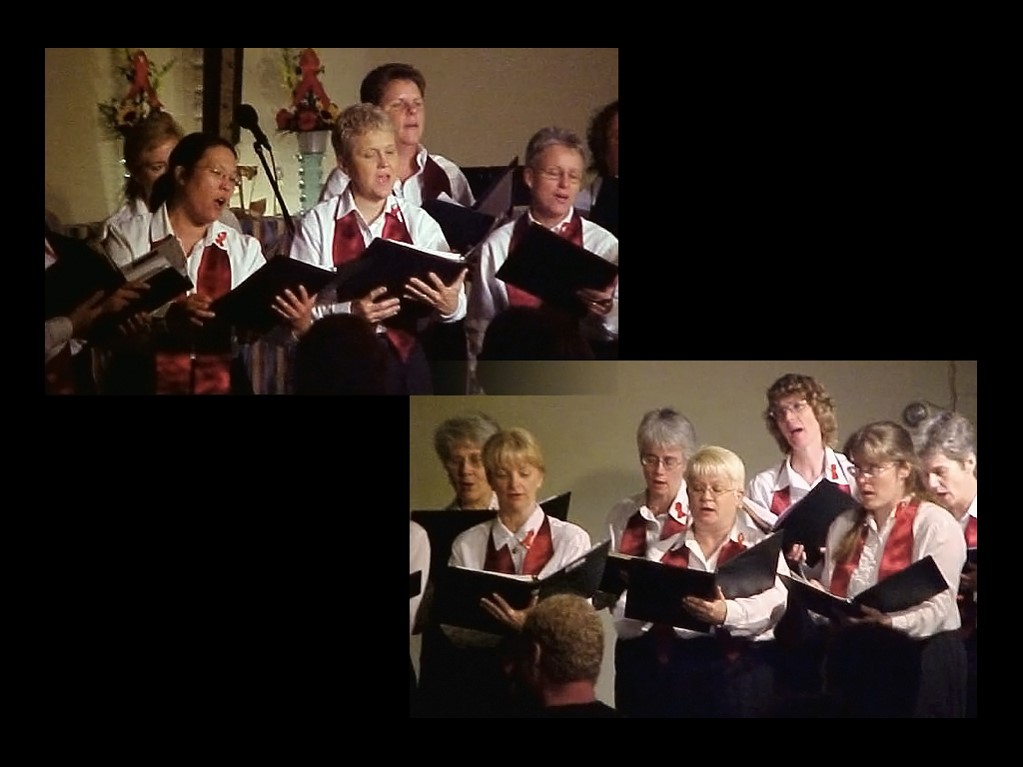 TLC sings at Community Church of Hope in 1998.