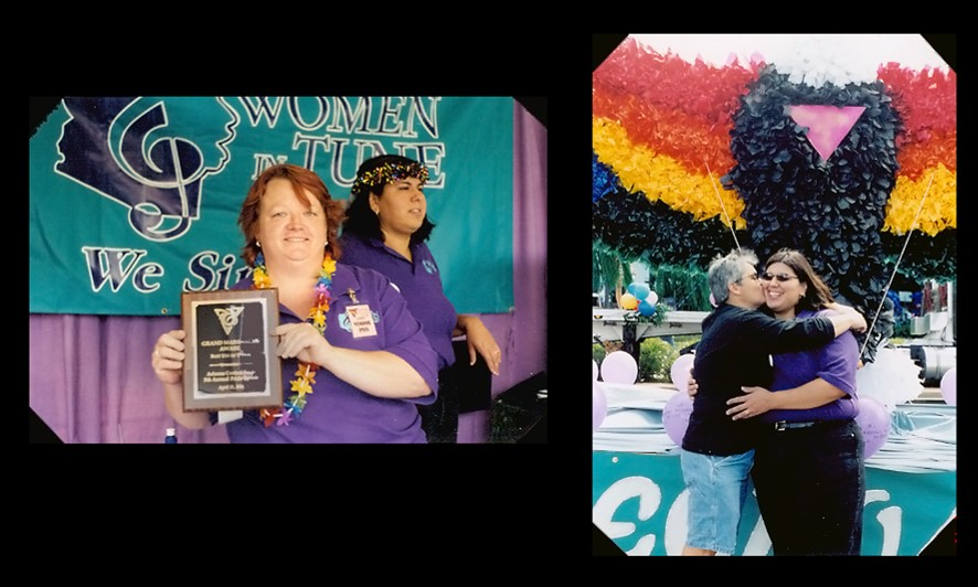 We win Pride Parade Awards! In 2000,2001, and 2003!