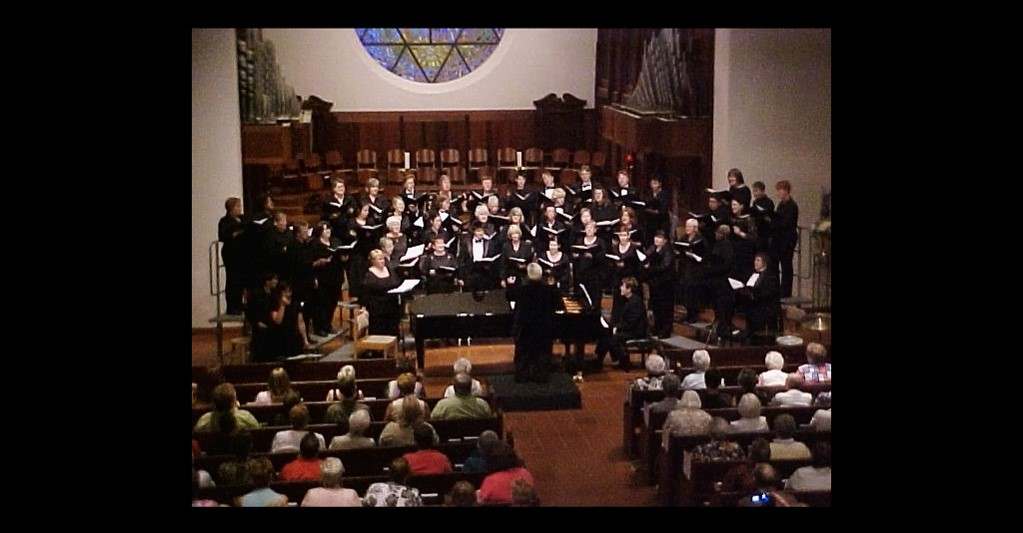 We transfix our audience at Trinity Cathedral with our beautiful harmonies.