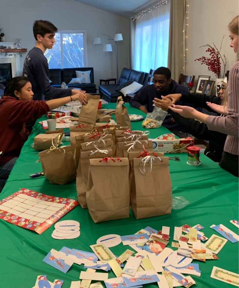 December 2018, our teens made over 200 cookies to give out to Military personnel at JBER.