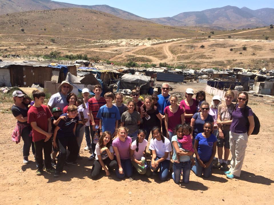 Junior highers serve in Rosarito, Mexico during spring break.