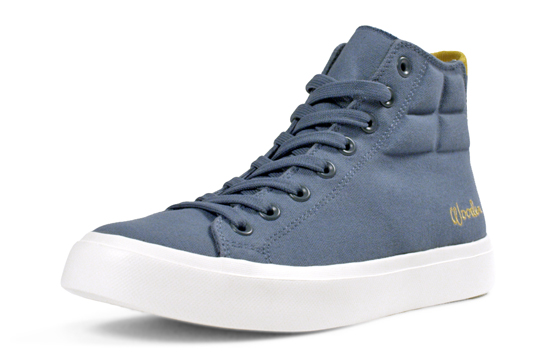 Fabled's John Wooden Shoe in heritage blue