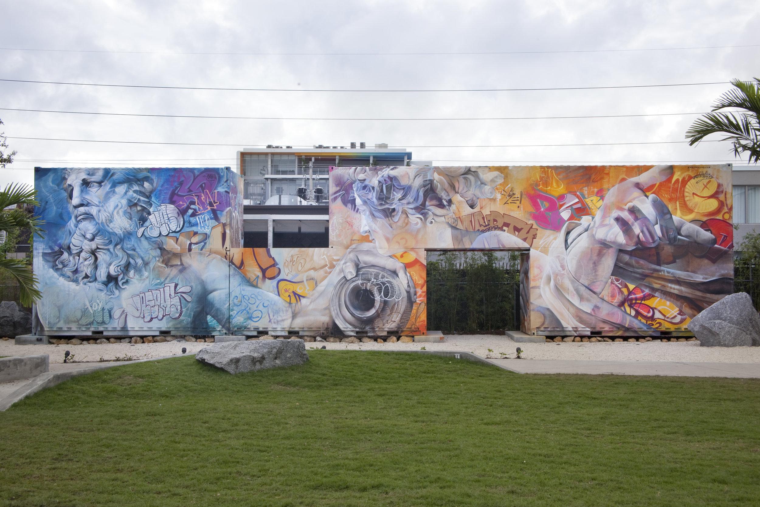 MURAL BY PICHI & AVO INSIDE THE WYNWOOD WALLS