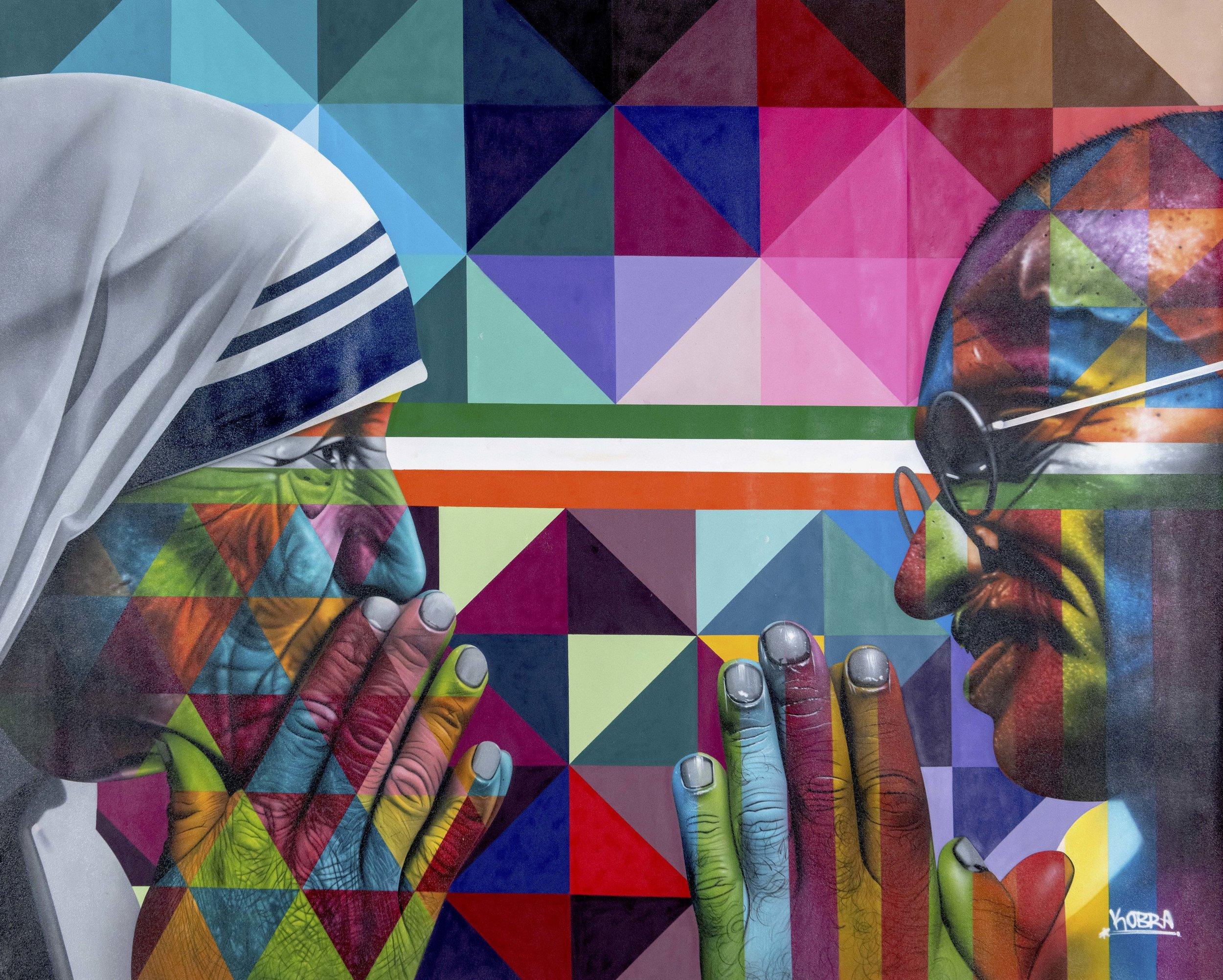 KOBRA  Tolerance  Mixed media on canvas  98 x 74 inches